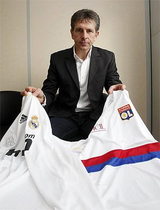 Claude Puel, t�cnico del Olympique de Lyon