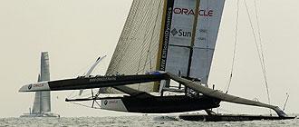 El BMW-Oracle se impuso en la segunda regata tambi�n