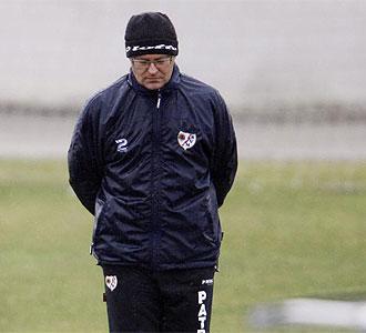 Pepe Mel durante un entrenamiento.