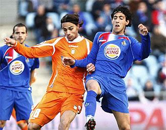 David Prieto durante un partido contra el Getafe.