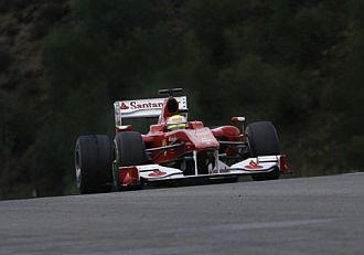 Massa, rodando sobre el circuito de Jerez.