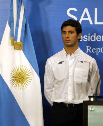 Pechito L�pez, en la presentaci�n de su acuerdo con USF1 y el Gobierno de Argentina