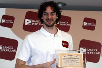 Pau durante la presentaci�n del patrocinio del Banco Popular.