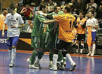 El Movistar celebra un gol en la Copa de Espa�a