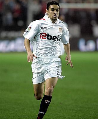 Jes�s Navas, durante un partido con el Sevilla