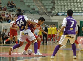 Imagen del partido de la primera vuelta entre ElPozo y Gestesa