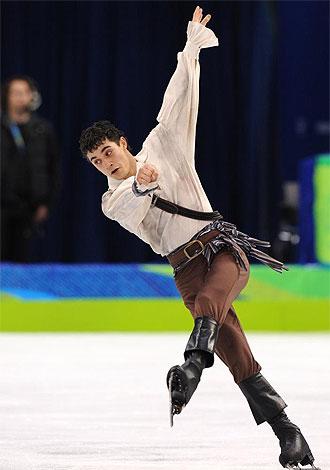 Javier Fern�ndez, en la final.