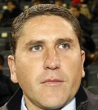 Garrido se mostr� muy disgustado por la goleada sufrida en el Bernab�u.