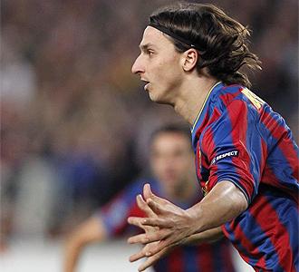 Ibrahimovic celebra el gol del empate