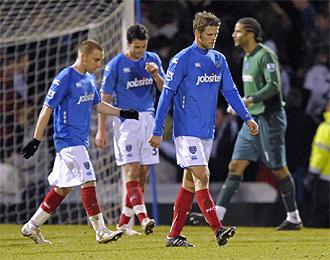 Los jugadores del Portsmouth tienen un nuevo motivo para sentirse cabizbajos.