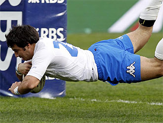 Canavosio logró el ensayo que dio la victoria a Italia.