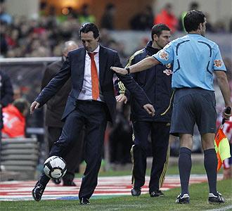 Emery durante el choque del Calder�n.
