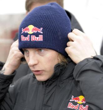 Kimi Raikkonen, en el rally de suecia, primera prueba del a�o.