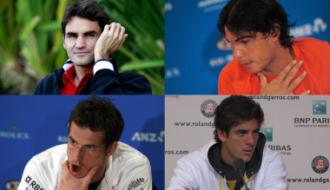 Federer, Nadal, Murray o Del Potro, bajas en la primera ronda.