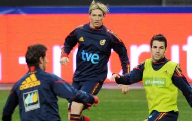 Fernando Torres, durante el entrenamiento