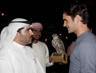 Roger Federer, la semana pasada en Dubai.