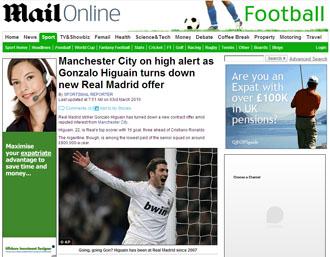 La noticia del 'Daily Mail'