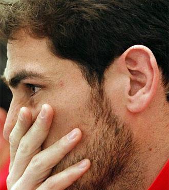 Casillas, en una rueda de prensa.