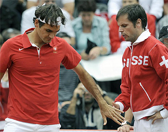 Luthi no podr� contar con el n�mero uno del mundo, Roger Federer.