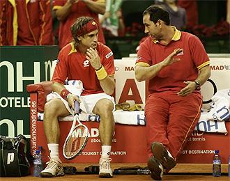 Ferrer junto a Costa en la final de la pasada Copa Davis.