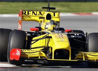 Un monoplaza Renault, durante un entrenamiento.