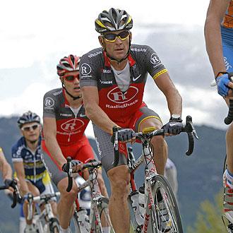 Armstrong se qued� en un puerto en la Vuelta a Murcia
