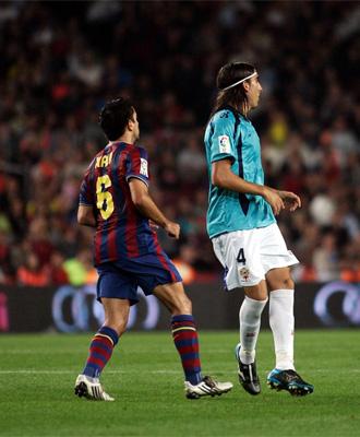 Xavi y Chico en el partido de la primera vuelta