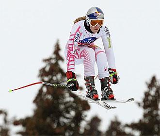 Lindsey Vonn, durante un entrenamiento.