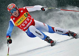 El suizo Cuche, en acción