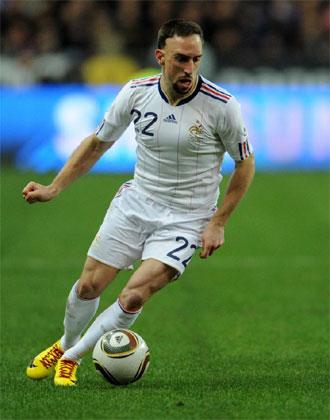 Ribéry conduce el balón durante el amistoso entre Francia y España del pasado miércoles.