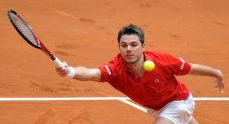 Stanislas Wawrinka durante su partido ante David Ferrer.