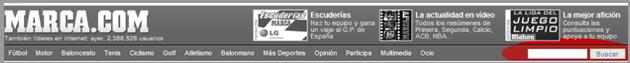 Pantallazo del buscador de MARCA.com