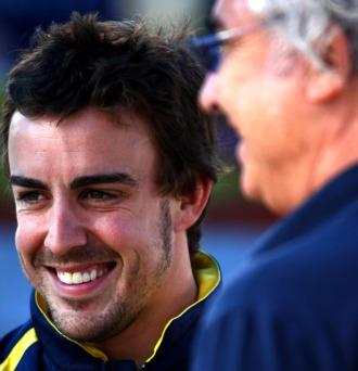 Fernando Alonso y Flavio Briatore, juntos en 2009.