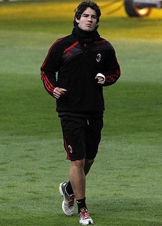 Pato corre en el campo del Old Trafford