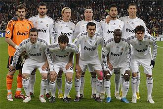 El once titular del Real Madrid