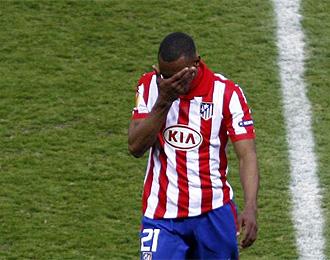 Perea se retir� ayer lesionado y se tem�a que fuera baja contra Osasuna.