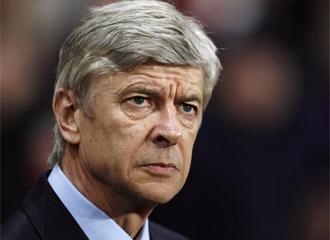 Ars�ne Wenger, durante un partido.