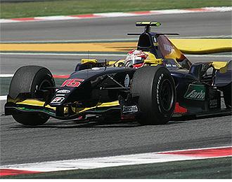 Javi Villa durante una carrera el a�o pasado en Montmel�.