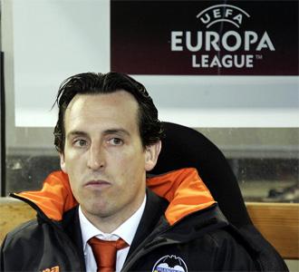 Emery, en un partido de la Europa League