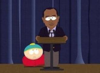 Tiger Woods y Cartman, en 'South Park'