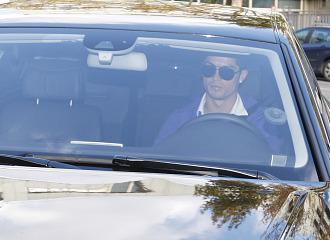 Cristiano Ronaldo, en coche
