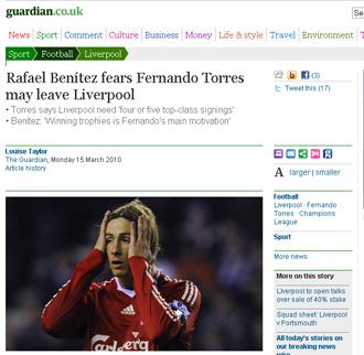 La noticia de 'The Guardian'