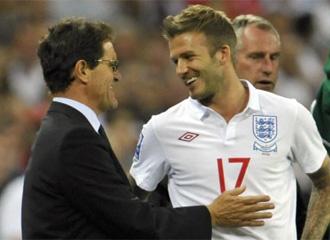 Capello y Beckham, con Inglaterra