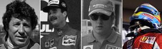 Andretti, Mansell, Raikkonen y Alonso