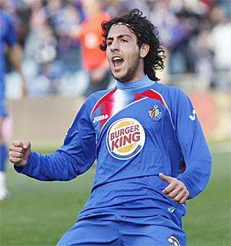 Parejo celebra su gol frente al Mallorca.