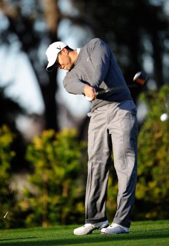 Tiger Woods entrenando en Florida el pasado mes de febrero.