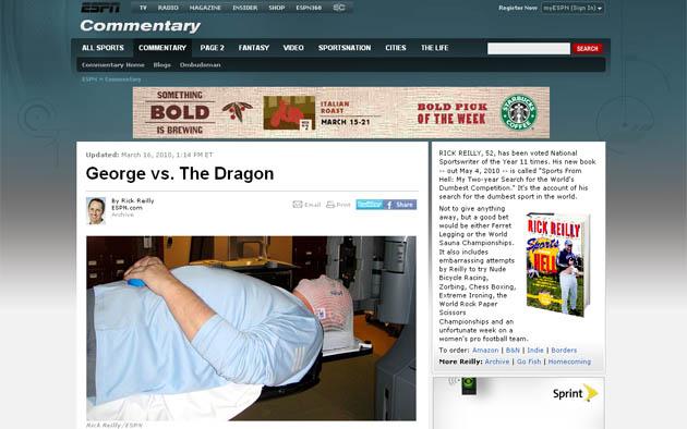 Captura del web de ESPN con la foto de George Karl.