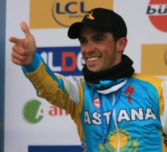 Alberto Contador en la pasada Par�s-Niza.