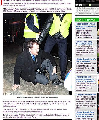El guarda de seguridad, en una imagen del Daily Mail.