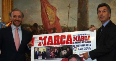 Eduardo Inda y Mauricio Macri